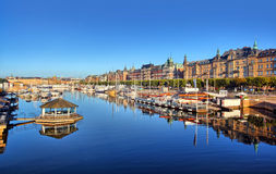 Tiro del panorama de Estocolmo Imagenes de archivo