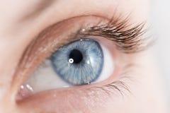 Tiro del primer de un ojo hermoso de la mujer Foto de archivo