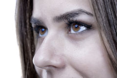Tiro del primer del ojo de la mujer Imagen de archivo