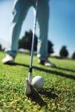 Tiro del tee de golf Foto de archivo libre de regalías