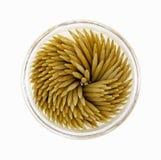 Tiro descendente do suporte redondo dos Toothpicks Imagem de Stock Royalty Free