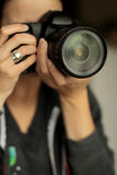 Tiro di foto Fotografia Stock