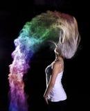 Tiro di foto della polvere di colore Fotografia Stock Libera da Diritti