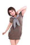 Tiro di modo con il modello femminile Fotografia Stock