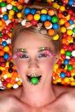 Tiro di tema della caramella creativa dello studio Fotografia Stock Libera da Diritti