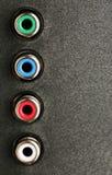 Tiro digital do macro do close-up do painel de controle da tevê do entrada/saída Imagens de Stock Royalty Free