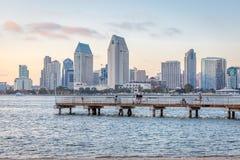 Tiro do centro do dia da skyline de San Diego Imagem de Stock Royalty Free