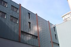 Tiro do centro do sumário da arquitetura de Vancôver Imagem de Stock