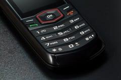 Tiro do close-up do telefone móvel foto de stock