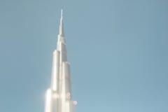 Tiro do deslocamento da inclinação da torre de Burj Khalifa Imagens de Stock Royalty Free