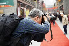 Tiro do fotógrafo Imagens de Stock