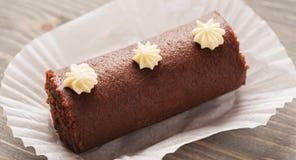 Tiro do macro do close-up do bolo do biscoito de Brown Imagem de Stock