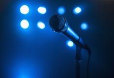 Tiro do microfone do Close-Up Fotos de Stock Royalty Free