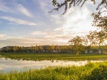 Tiro do por do sol por telefones da câmera Foto de Stock Royalty Free