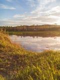 Tiro do por do sol por telefones da câmera Imagem de Stock Royalty Free