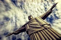 Tiro dramático del redentor de Cristo Fotografía de archivo