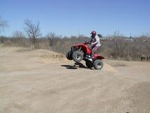 Tiro en suspensión de ATV Foto de archivo