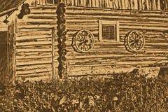 Tiro escénico de los edificios viejos del granero Imagen de archivo