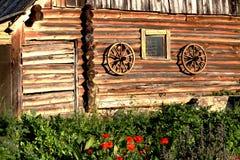 Tiro escénico de los edificios viejos del granero Imágenes de archivo libres de regalías