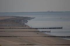 Tiro genérico de uma praia típica nos Países Baixos Fotos de Stock Royalty Free