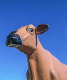 Tiro gigante da cabeça da estátua do gado Foto de Stock Royalty Free
