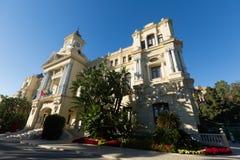 Tiro granangular de Ayuntamiento de Málaga Fotografía de archivo