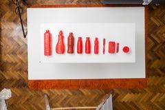 Tiro granangular, de cosas cuidadosamente organizadas Fotos de archivo