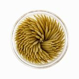 Tiro hacia abajo del sostenedor redondo de los Toothpicks Imagen de archivo libre de regalías
