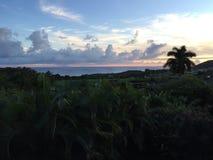 Tiro hermoso del balcón de la puesta del sol Imágenes de archivo libres de regalías