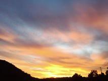 Tiro impressionante do por do sol Fotos de Stock