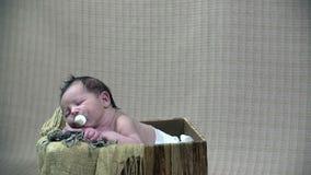 Tiro inclinable de la escena del otoño del bebé almacen de video
