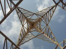 Tiro inferior del molino de viento Imagen de archivo libre de regalías