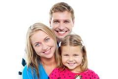 Tiro instantâneo de uma família charming adorável imagens de stock royalty free