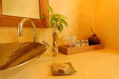 Tiro interior de uma sala do banho Imagens de Stock Royalty Free