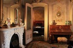 Tiro interior impressionante da sala dentro de Victoria Mansion histórica, Portland, Maine, 2016 imagens de stock