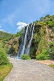 Tiro largo de Krcic da cachoeira Fotos de Stock Royalty Free