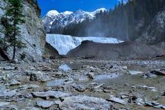 Tiro lejano de las caídas de Wapta Foto de archivo