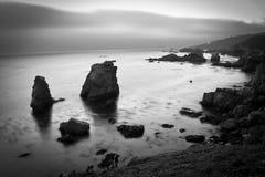 Tiro litoral preto e branco Imagem de Stock