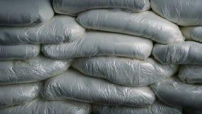 Tiro móvil de los bolsos de la cocaína almacen de metraje de vídeo