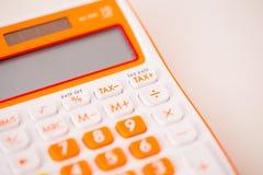 Tiro macro da calculadora do imposto Fotografia de Stock Royalty Free
