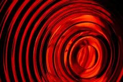 Tiro macro da luz vermelha Fotos de Stock Royalty Free