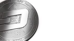 Tiro macro da moeda do traço e do espaço da cópia ilustração stock