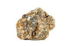 Tiro macro da pedra preciosa natural Labrador mineral cru Objeto isolado em um fundo branco Imagens de Stock Royalty Free