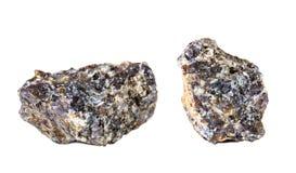 Tiro macro da pedra preciosa natural Labrador mineral cru Objeto isolado em um fundo branco Fotos de Stock Royalty Free