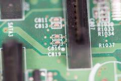 Tiro macro da placa de circuito Imagens de Stock Royalty Free