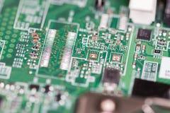 Tiro macro da placa de circuito Imagem de Stock