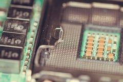 Tiro macro da placa de circuito Foto de Stock