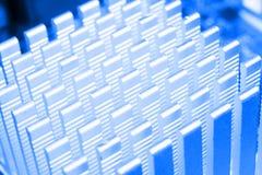 Tiro macro da placa de circuito com microchip dos resistores e componentes eletr?nicos Tecnologia de material inform?tico Communi fotos de stock royalty free