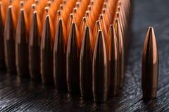 Tiro macro das balas de cobre Fotografia de Stock Royalty Free