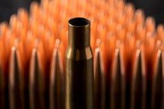 Tiro macro das balas de cobre Imagens de Stock Royalty Free